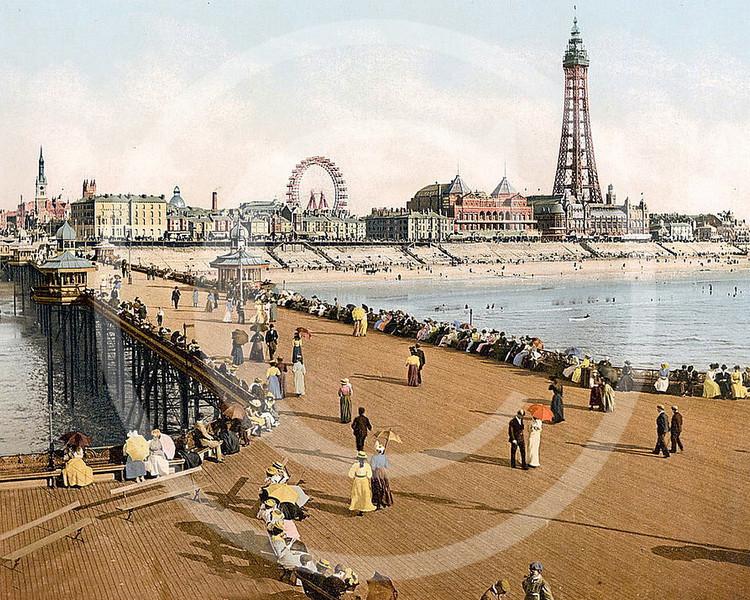 Blackpool from North Pier, Lancashire.