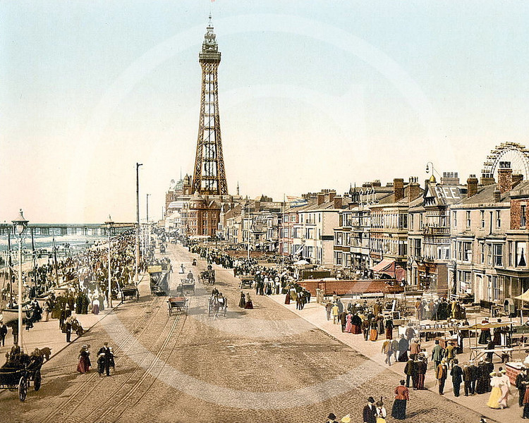 Blackpool Promenade and Tower, Blackpool, Lancashire.