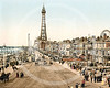 Blackpool Promenade and Tower, Blackpool, Lancashire.