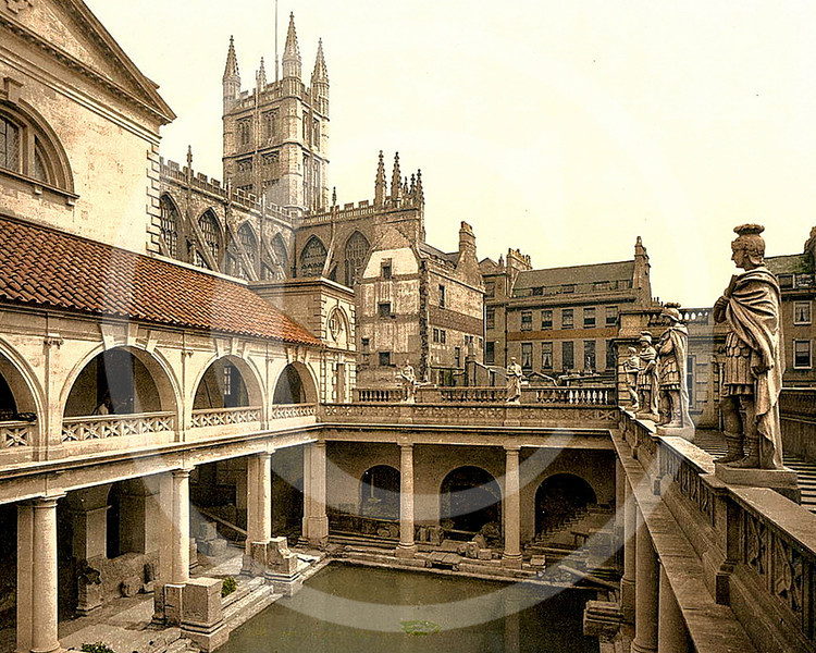 Roman Baths and Abbey, Bath, Somerset.