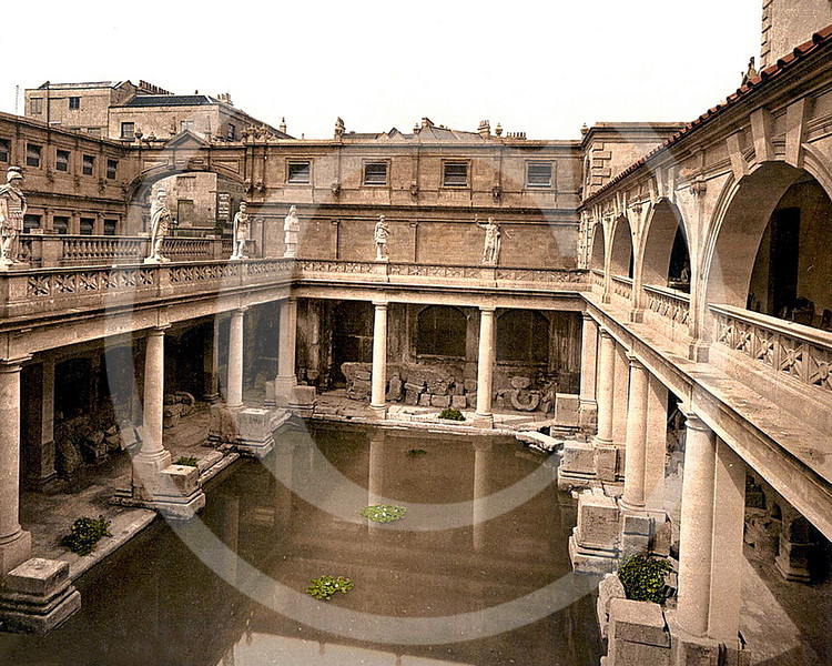 Roman Baths, Bath, Somerset.