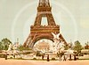 Eiffel Tower and Fountain, Exposition Universelle, Paris 1900