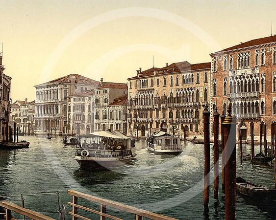 Foscari & Rezzonigo Palaces, Venice 1890