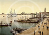 German yacht, SMY Hohenzollern in Venice 1900