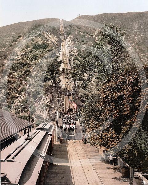 The Great Incline, Mount Lowe Railway, Mount Lowe, California 1905.