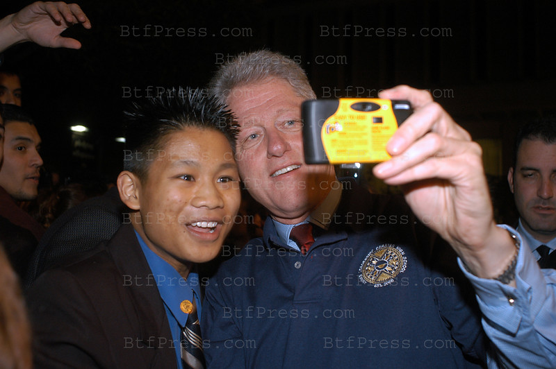 """On October 28, 2002,former President Clinton and Governor Davis attended a get out to vote rally at Animo Leadership Charter High School. Animo Leadership was chosen as the site for the event partly because of its success to date. At one point during his speech, former President Clinton looked into the crowd of thousands and said, """"We should have more schools like Animo""""."""