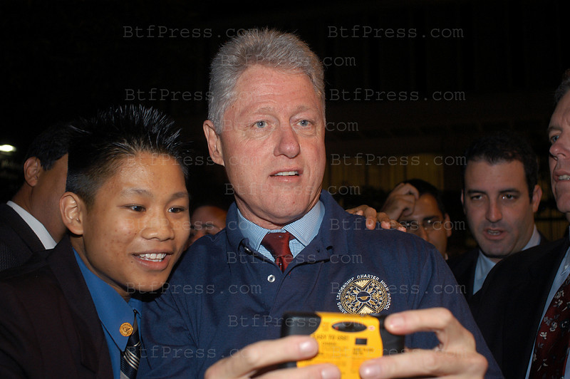 "On October 28, 2002,former President Clinton and Governor Davis attended a get out to vote rally at Animo Leadership Charter High School. Animo Leadership was chosen as the site for the event partly because of its success to date. At one point during his speech, former President Clinton looked into the crowd of thousands and said, ""We should have more schools like Animo""."