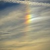 This is a photograph of a rainbow colored Light my girlfriend, Joan, took on the afternoon of January 5, 2020.