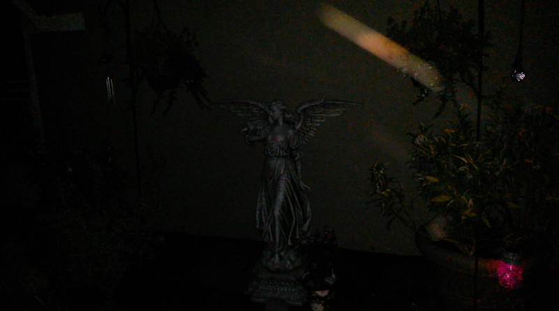 This is one still image, of two images presented, of The Light of Archangel Raphael; as captured on video the evening of July 22, 2016
