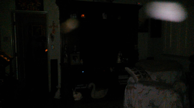 This is the third still image, of six images presented, of Archangels Raphael and Gabriel (the golden Light), as captured on video the evening of March 22, 2016. This day marked the 6th Anniversary of my Fiance's death and in this image, Gabriel is directly over the picture of my Fiance, Ken.