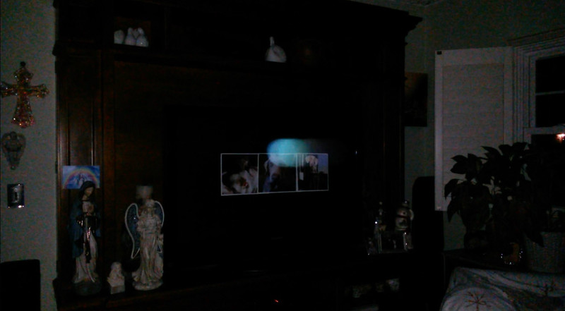"""This is the second and final still image of The Light of """"Blue""""; as captured on video the evening of September 14, 2017."""