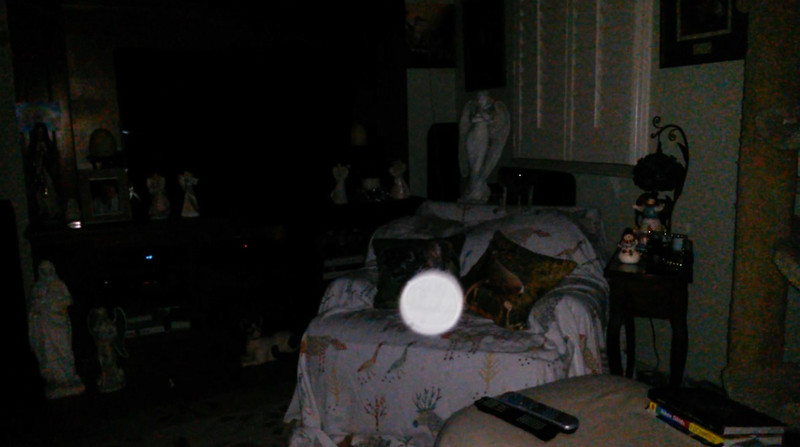 This is the third still image, of six images presented, of The Light of Mother Mary; as captured on video the evening of January 18, 2019.