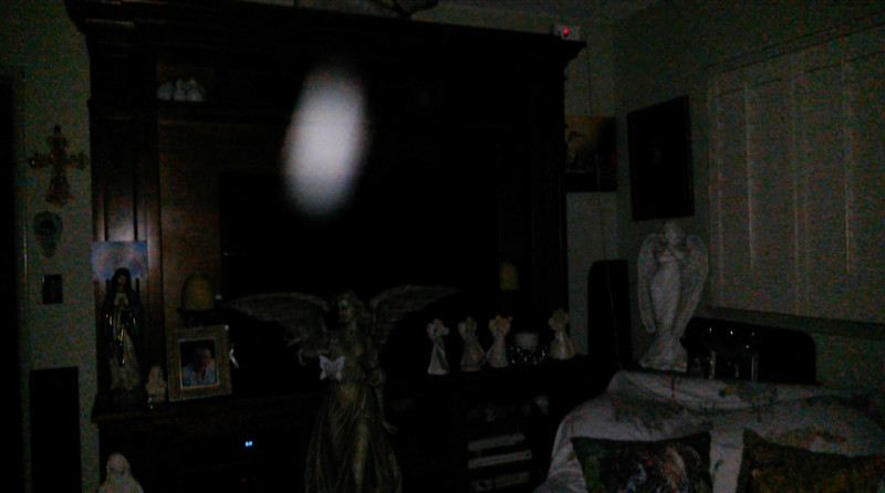 This is the second still image, of three images presented, of The Light of Mother Mary; as captured on the evening of the Full Moon - January 21, 2019.