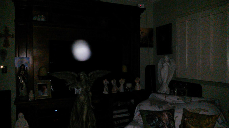 This is one still image, of three images presented, of The Light of Mother Mary; as captured on the evening of the Full Moon - January 21, 2019.
