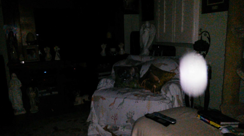This is the fifth still image, of six images presented, of The Light of Mother Mary; as captured on video the evening of January 18, 2019.
