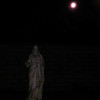 This is one still image, of four images presented, of The Light of Jesus descending by my new Jesus statue; as captured on video the evening of December 31, 2017.