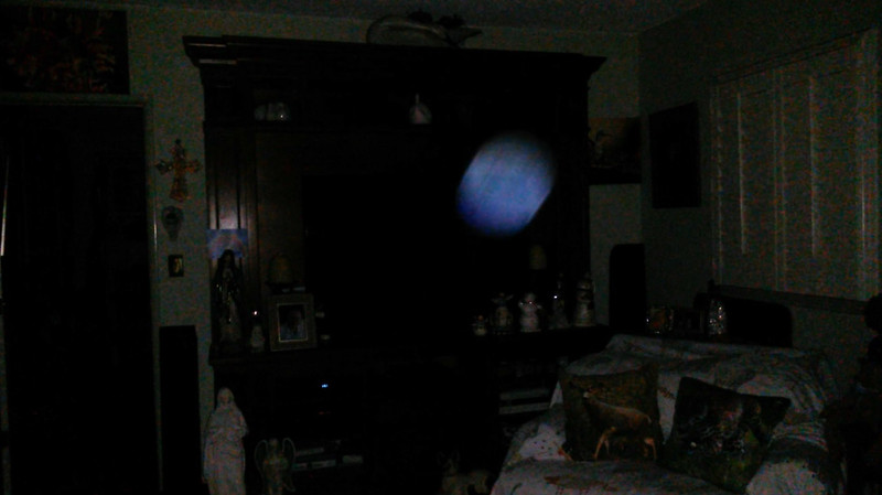 This is a still image of The Light of Jesus; as captured on video the evening before the Full Harvest Moon, September 24, 2018.