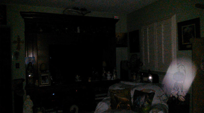 This is a still image of The Light of Mother Mary; as captured on video the evening of December 26, 2018.
