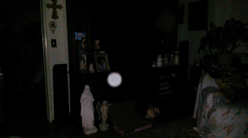 This is one still image, of four images presented, of The Light of Jesus; as captured on video Easter evening, at 11:11 pm, on April 1, 2018.