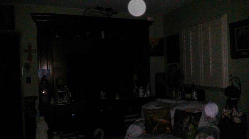This is the second still image of The Light of Mother Mary (top orb) with Archangel Ariel; as captured on video the evening of December 26, 2018.