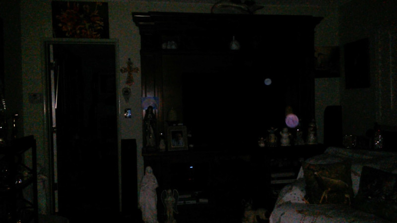 This is a still image of The Light of Mary Magdalene and Jesus (larger colored orb); as captured on video the evening before the Full Harvest Moon, September 24, 2018.
