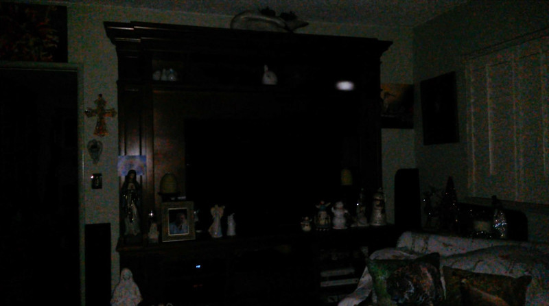 This is the second still image, of nine images presented, of The Light of my friend's father, Del; as captured on video the evening of November 2, 2018.