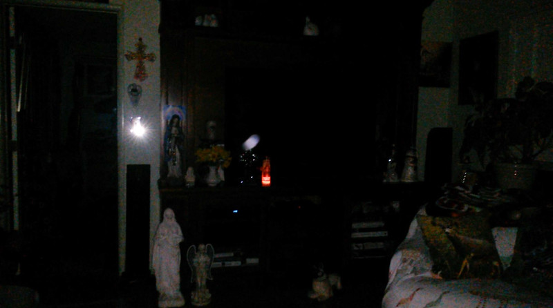 This is one still image, of five images presented, of The Light of Jesus; as captured on video Easter Eve, March 31, 2018.