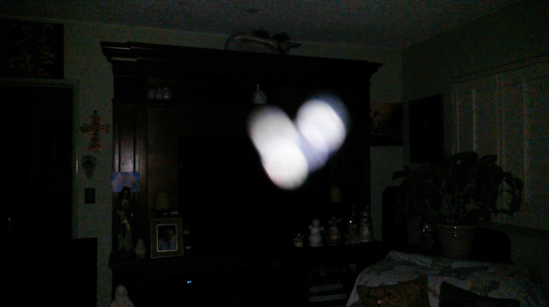 This is the tenth still image, of seventeen images presented, of The Light of Jesus; as captured on video the evening of the Full Sturgeon Moon - August 26, 2018.