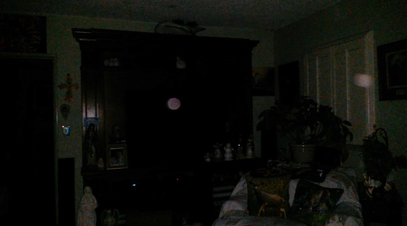 This is a still image of The Light of Mother Mary (pink orb) and Archangel Raphael; as captured on video the evening of May 16, 2018.