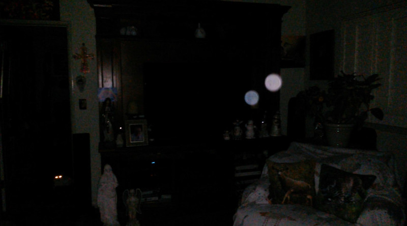 This is the fourth still image, of eight images presented, of The Light of Jesus (blue orb) and Archangel Michael; as captured on video the evening of September 12, 2018.