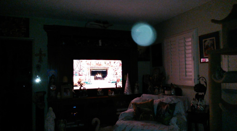 This is the eighth and final still image of The Light of Jesus; as captured on video the evening of December 24, 2018.