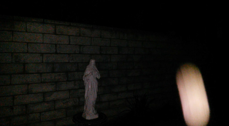 This is the third and final still image presented of The Light of Jesus descending by my Jesus statue; as captured on video the evening of September 2, 2017.