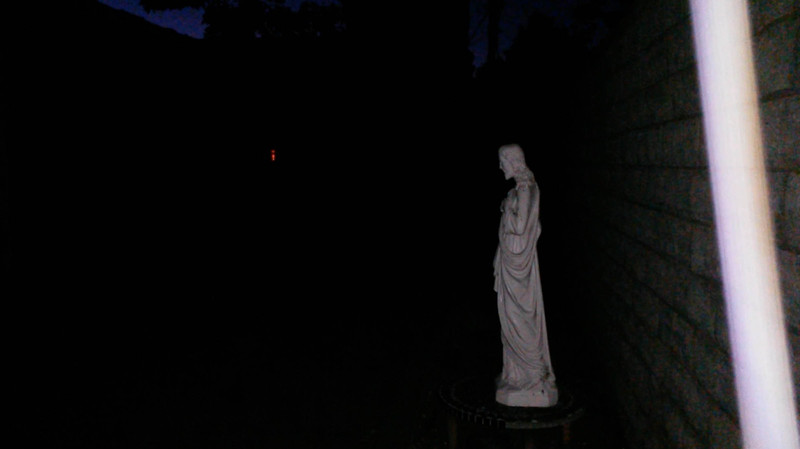 """This still image, of The Light of Jesus descending by my Jesus statue, was captured on video the evening of the Full Moon on August 18, 2016.<br /> <br /> Some Native American tribes called the August Full Moon the """"Sturgeon Moon"""" because they knew that the sturgeon of the Great Lakes and Lake Champlain were most readily caught during this Full Moon. They also called August's Moon the """"Full Green Corn Moon."""""""
