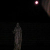 This is the second still image, of four images presented, of The Light of Jesus descending by my new Jesus statue; as captured on video the evening of December 31, 2017.