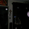 This is the fourth still image, of five images presented, of The Holy Spirit (large orb) accompanied by an Angelic Being; as captured on video Easter evening  April 1, 2018.