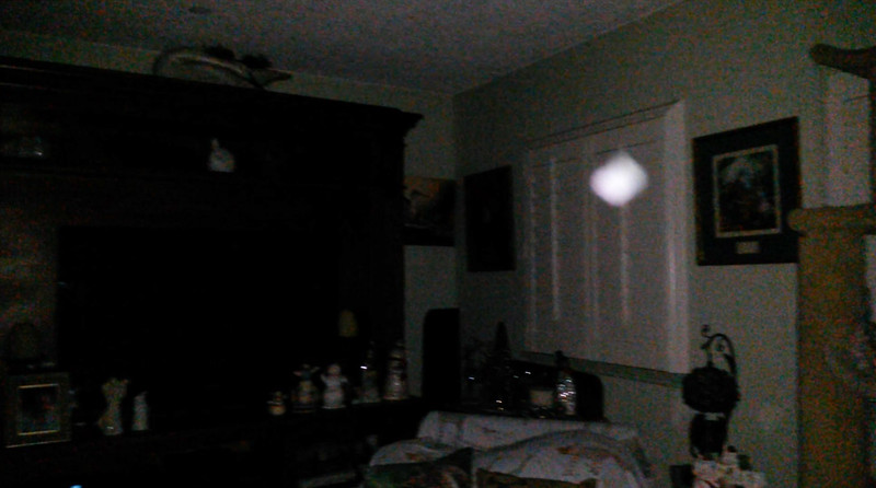This is the third still image, of nine images presented, of The Light of my friend's father, Del; as captured on video the evening of November 2, 2018.
