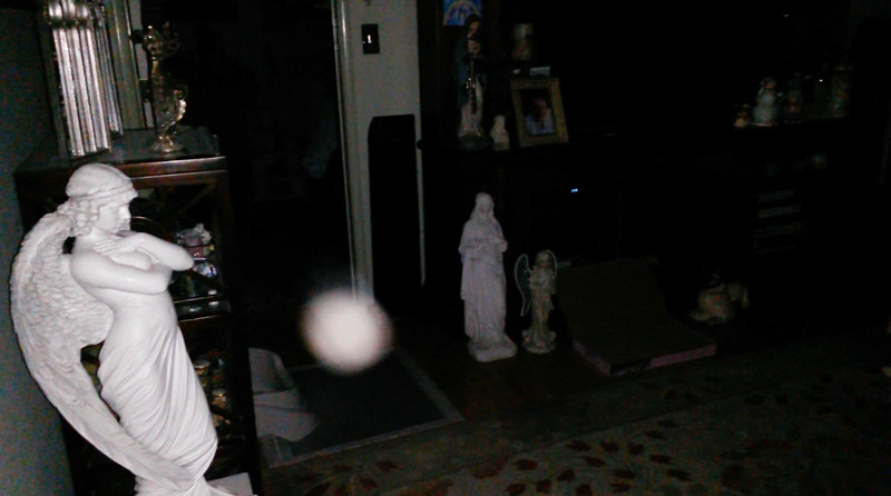 This is the third still image, of five images presented, of Archangel Gabriel; as captured on video Easter evening, April 1, 2018.