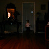 """This is the third and final still image of The Light of Jesus, with my great nephew, as captured on video Christmas Day 2014.  Also in this image is my niece sitting on the floor of my mother's living room and watching one of my favorite holiday movies: """"The Bishop's Wife."""""""