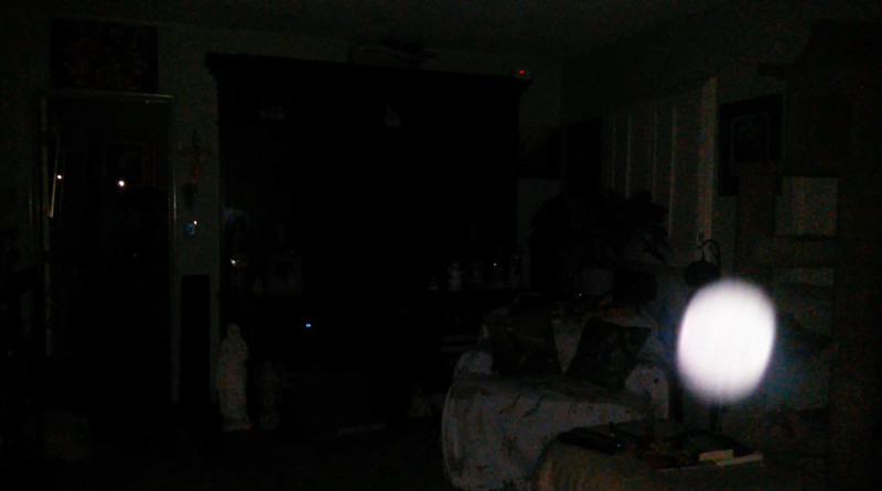 In this image, you can begin to see the blue energy emanating from His Light.<br /> <br /> This is the fifth still image, of nine images presented, of The Light of Jesus; as captured on video the evening of February 13, 2018.