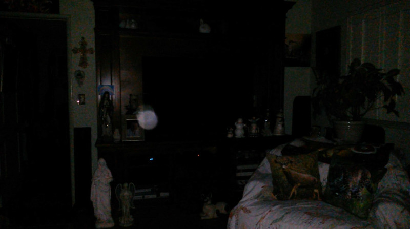 This is the second still image, of three images presented, of The Light of Saint Francis; as captured on video the evening of April 7, 2018.