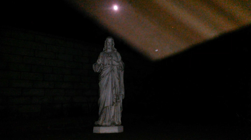 This is the second still image, of four images presented, of The Light of Jesus; as captured on video the evening of the Full Harvest Moon September 25, 2018.