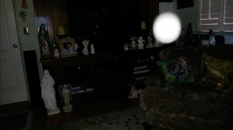 This is a still image of The Light of my friend's father, Del; as captured on video the morning of November 3, 2018.