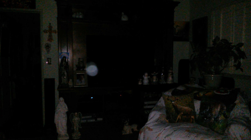 This is one still image, of three images presented, of The Light of Saint Francis; as captured on video the evening of April 7, 2018.