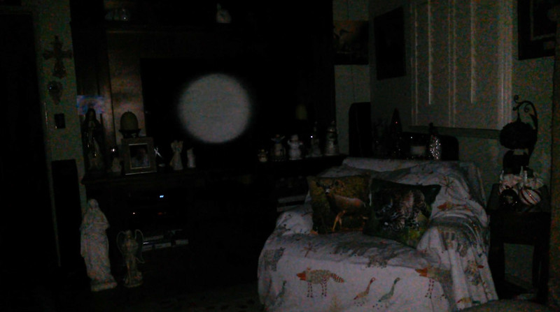 This is the eighth still image, of ten images presented, of The Light of Mother Mary; as captured on video the evening of November 11, 2018.