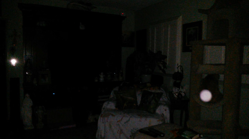 This is one still image, of eight images presented, of The Light of Jesus (over my cat Tom); as captured on video the evening of February 8, 2018.