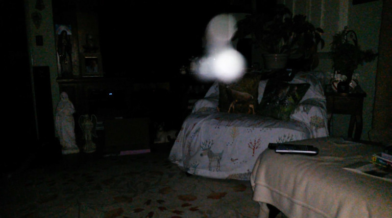 This is the sixth still image, of twelve images presented, of The Light of Mother Mary; as captured on video the evening of May 16, 2018.