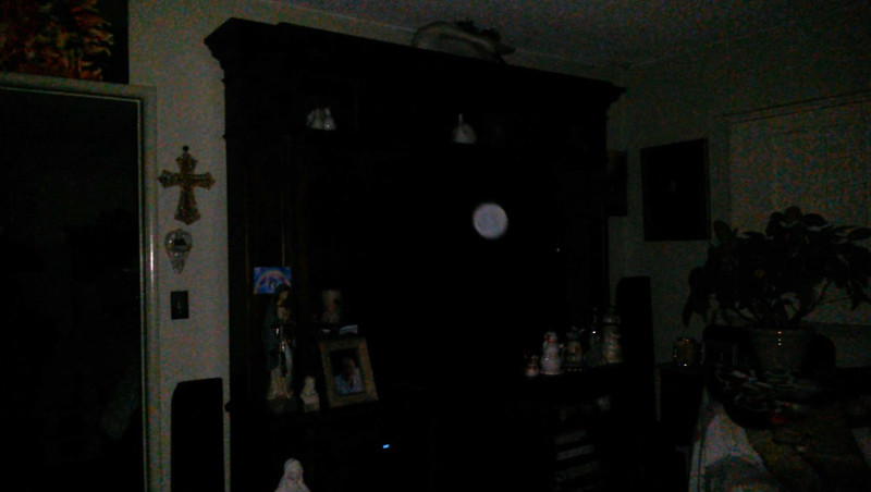This is one still image, of six images presented, of The Light of Mother Mary; as captured on video Easter evening  April 1, 2018.