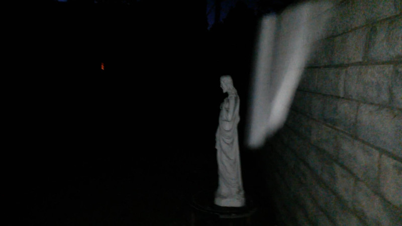 This is the second still image of The Light of Jesus ascending by my Jesus statue; as captured on video the evening of the Full Moon on August 18, 2016.