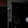 This is the third still image, of five images presented, of The Holy Spirit (large orb) accompanied by an Angelic Being; as captured on video Easter evening  April 1, 2018.