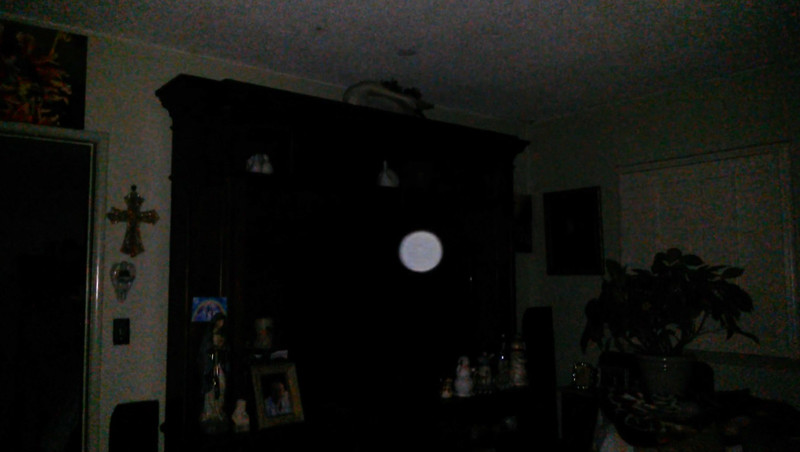 This is the second still image, of six images presented, of The Light of Mother Mary; as captured on video Easter evening  April 1, 2018.